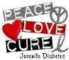 Juvenile Diabetes Grey Gray Ribbon Support