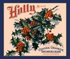 Holly Orange Crate Label