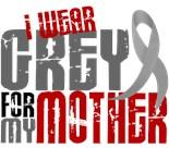 I Wear Grey My Mom Mother Mommy
