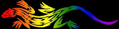 Rainbow Pride Lizard