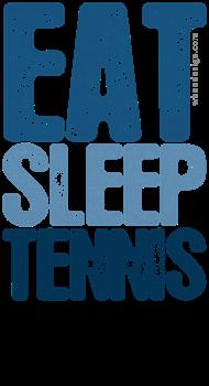 Blue EAT SLEEP TENNIS