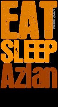 Orange EAT SLEEP Azlan