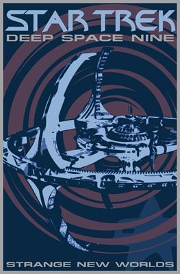 Retro Star Trek: Deep Space Nine Poster