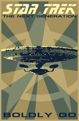Retro Star Trek: The Next Generation Poster