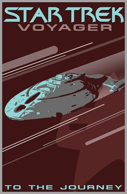 Retro Star Trek: Voyager Poster
