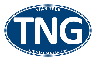 Star Trek: TNG Blue 2 Oval