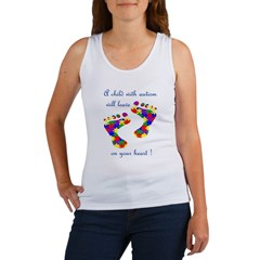 Footprints on your heart Women's Tank Top