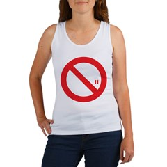 Classic No Smoking Women's Tank Top