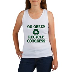 Go Green - Recycle Congress Women's Tank Top