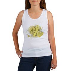 Spina Bifida Peace Love Cure Women's Tank Top