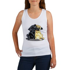 Black Fawn Pug Women's Tank Top