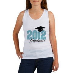 2012 graduate color aqua Women's Tank Top