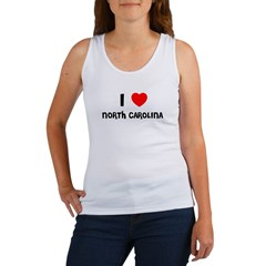 I LOVE NORTH CAROLINA Women's Tank Top
