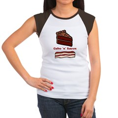 CakeNBacon.jpg Women's Cap Sleeve T-Shirt
