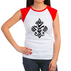 Fleur de lis Animals 1 Women's Cap Sleeve T-Shirt