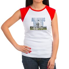 AllRoadsGB.jpg Women's Cap Sleeve T-Shirt