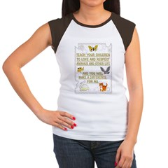 """Teach your children"" Women's Cap Sleeve T-Shirt"