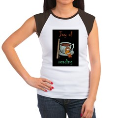 &quot;Joy of reading&quot; Women's Cap Sleeve T-Shirt
