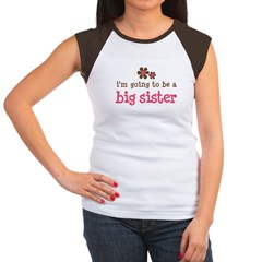 big sister pink brown flower Women's Cap Sleeve T-Shirt