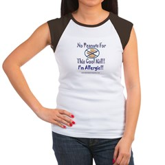 No Peanuts For This Cool Kid Women's Cap Sleeve T-Shirt