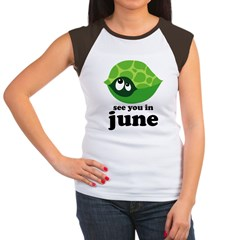June Baby Due Date Women's Cap Sleeve T-Shirt