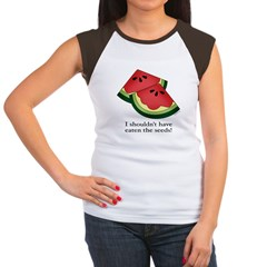 Watermelon Seeds Women's Cap Sleeve T-Shirt