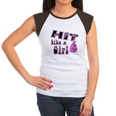Hit Like A Girl drk Women's Cap Sleeve T-Shirt