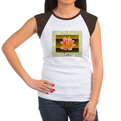 Good Morning Lotus Women's Cap Sleeve T-Shirt