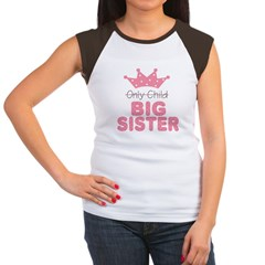 Only Child Big Sister Women's Cap Sleeve T-Shirt
