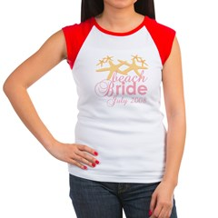 July Beach Bride 2008 Women's Cap Sleeve T-Shirt