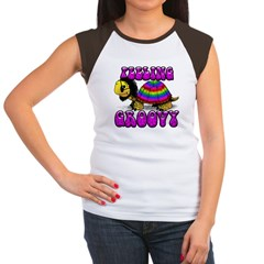 Women's Groovy Turtle Women's Cap Sleeve T-Shirt