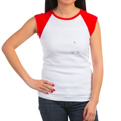 German Baseball Style Women's Cap Sleeve T-Shirt