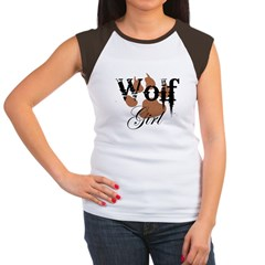 Wolf Girl Women's Cap Sleeve T-Shirt