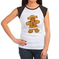 Gingerbread Woman Women's Cap Sleeve T-Shirt