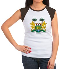 Sierra Leone Coat of Arms Women's Cap Sleeve T-Shirt