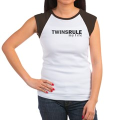 TWINS RULE my life Women's Cap Sleeve T-Shirt