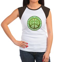 Peaceful Tree Hugger Women's Cap Sleeve T-Shirt