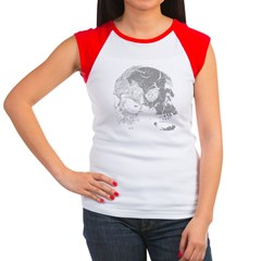Skulls Double Time Women's Cap Sleeve T-Shirt