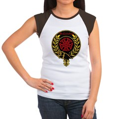 McLotofus Red Women's Cap Sleeve T-Shirt