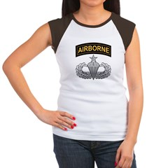 Senior Airborne Wings with Ai Women's Cap Sleeve T-Shirt