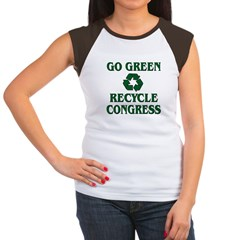 Go Green - Recycle Congress Women's Cap Sleeve T-Shirt