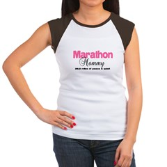Marathon Mommy Peace Quie Women's Cap Sleeve T-Shirt