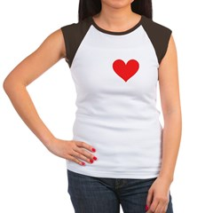 I Heart Volleyball: Women's Cap Sleeve T-Shirt