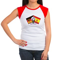 Germany vs. Spain 2010 Soccer Women's Cap Sleeve T-Shirt