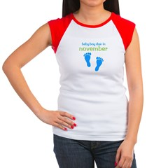 Blue Footprints (Boy, Due Dat Women's Cap Sleeve T-Shirt