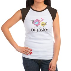 MASTER whimsy birds front no personalization Women's Cap Sleeve T-Shirt