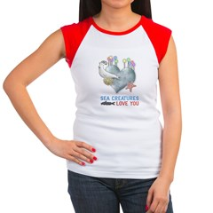 Sea Creatures Women's Cap Sleeve T-Shirt