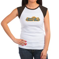 Suns out guns out -- Men Women's Cap Sleeve T-Shirt