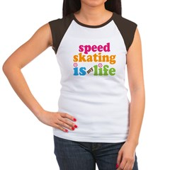 Speed Skating Is My Life Gift Women's Cap Sleeve T-Shirt