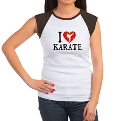 I Heart Karate - Girl Women's Cap Sleeve T-Shirt